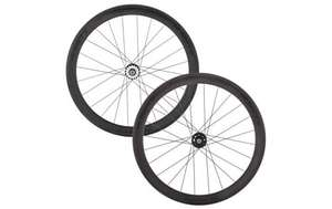 "50/50 carbon tubular track wheelset £399.99 when bought with ""Tub Tape"" (down from £599.99) @ Planet X"