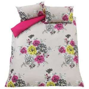 Aimee Floral Reversable Bedding Set - Double £7.49 / King Size £9.49 at Argos