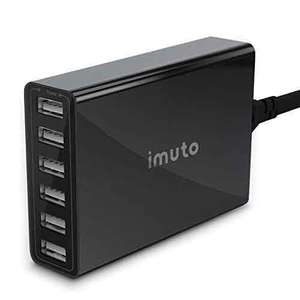 iMuto 50W/10A 6-Port USB Charger Desktop Charging Station Wall Charger for iPhone 6s / 6 / 6 Plus, iPad Air 2 mini, Galaxy S6, Note 5 and More - £12.79 @ Amazon (Lightning deal)
