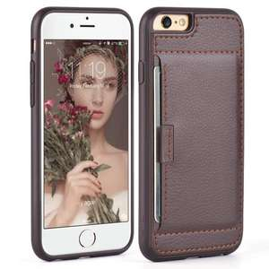 ZVE iPhone 6/6s Case Slim Leather Case Wallet @ Sold by Zvedeng and fulfilled by Amazon Prime £7.99, Non-Prime £11.98