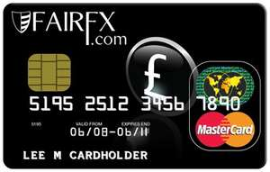 FairFX currency card - FREE (Usually £9.95 fee) (Must load £50)