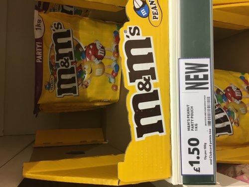 m&m's 1kg bag at tesco £1.50!!!! (Irvine)