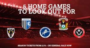Charlton Athletic Adult Season Tickets start from £175