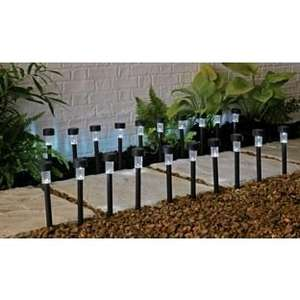 ARGOS Black Solar Lights - Set of 20. - £8.79