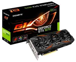 Gigabyte GeForce GTX 1070 G1 GAMING 8GB GDDR5 Windforce3X - £402.92 BT Shop