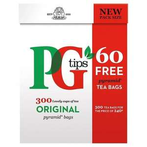 Pg Tips Pyramid Tea Bags Extra Free 300 per pack £3.50 @ Morrisons
