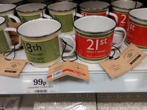 Dads Army 18th and 21st tin mugs 99p @ Home Bargains