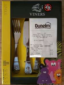 Kids Viners Jungle 4 Piece Cutlery Set scanning at £3.49 at Dunelm