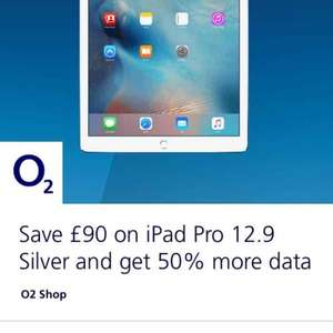 Apple iPad Pro 12.9 on 02 priority moments deal £57 p/m 12 months £9.99 upfront cost Total = £693.99