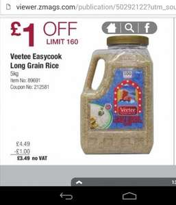 Veetee Easy Cook Long Grain Rice 5Kg @ Costco For £3.49