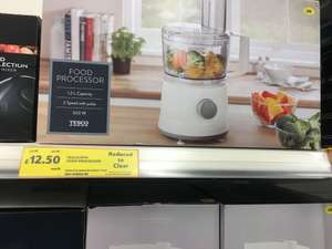 Tesco food processor £12.50 instore nationwide if stores have stock