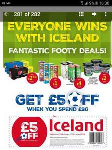 £5 off £30 Shop at Iceland in tomorrow's The Sun *Free Home delivery Over £20 as well*