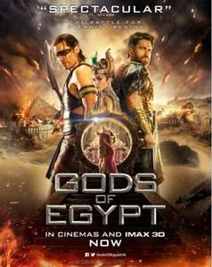 2 for 1 tickets to see Gods of Egypt via Showfilmfirst