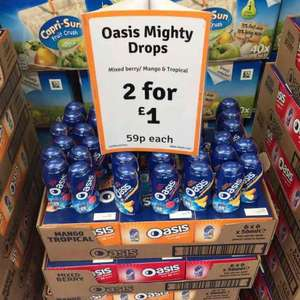 Oasis Mighty Drops 59p each or 2 for £1.00 @ The Range Bournemouth. Mixed Berry and Mango & Tropical