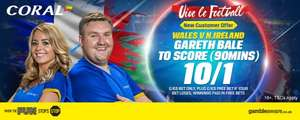 Bale to score in Wales vs.N ireland 10-1 at Coral