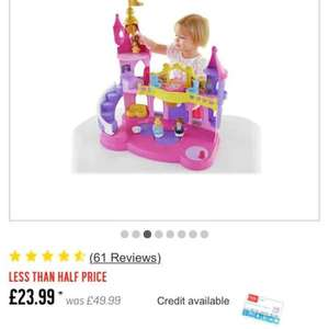 Fisher-Price Disney Princess Musical Dancing Palace £23.99 was £49.99 argos