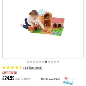 Chad Valley Wooden 50 Piece Farm Set 24.99 was 39.99 argos