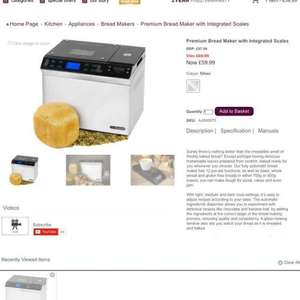 Andrew James premium bread now £59.99 identical to Lakelands bread maker plus 17892 Best Buy which