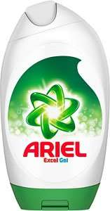 Tesco Ariel gel 888ml £7.50 - works out £1.62 per pack.. 25% off 4 PLUS brand guarantee!*GLITCH*