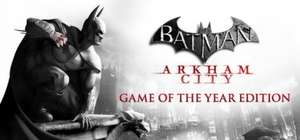 Batman: Arkham City - Game of the Year Edition - £3.74 Steam Sales