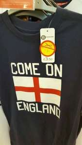 Come On England T-shirts from £1.75 @ morrisons