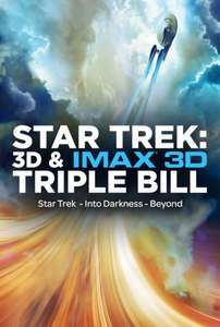 Star Trek - Triple Bill (Three films including latest Star Trek: Beyond) 21 July £14.20/£15.70 at Cineworld or £15 at VUE (Double Bill at Odeon for £5)