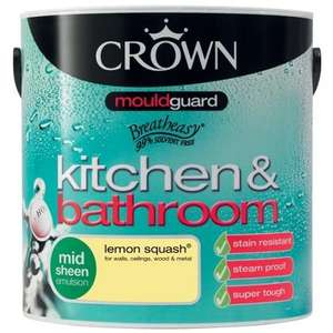 Homebase - Crown kitchen and bathroom 2.5l paint £4.93