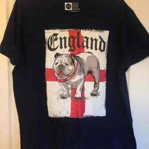England British Bulldog T-Shirt Primark Chester £1