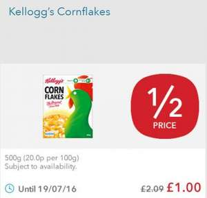 Kellogg's Corn Flakes 500g only £1 @ co-op