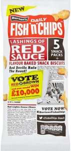 Burton's Fish 'n' Chips RED Sauce (5 Pack) Half Price 50p @ Sainsbury's