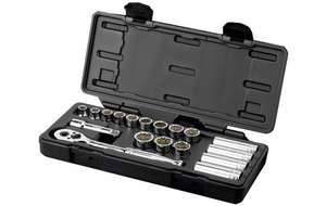 "Halfords Advanced Professional 18 Piece Socket Set 3/8"" with Lifetime Guarantee   £17.00  Halfords - free c&c"