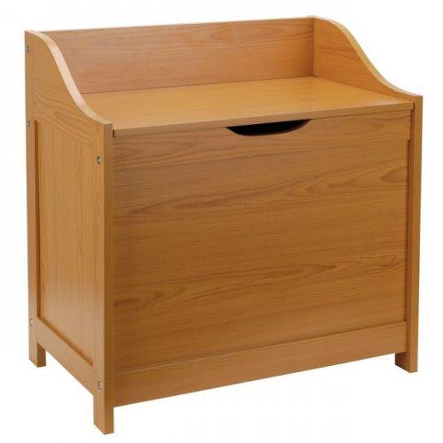 monks style laundry bin pine less than half price. Black Bedroom Furniture Sets. Home Design Ideas