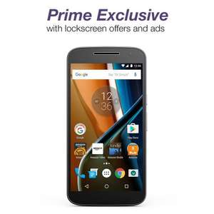 Moto G (4th Generation) - Black - 16 GB - Unlocked - Prime Exclusive - with Lockscreen Offers & Ads - $25 discount @ Amazon.com