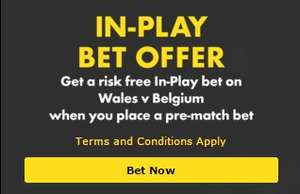 Bet365 Wales v Belgium Free In-Play Bet Offer
