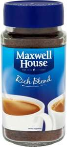 Maxwell House Rich Blend Coffee (200g) was £4.60 now £2.30 @ Tesco