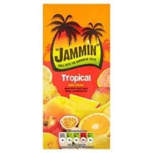 Jammin Tropical Juice Drink 1 litre half price was 89p now 44p at Tesco