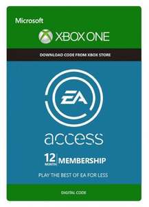 EA Access - 12 Month Subscription (Xbox One) £18.99 (£18.04 with 5% Facebook code) at CD KEYS
