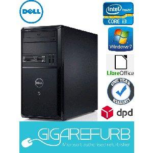 Dell Vostro 260 Desktop -Refurbished- Intel i3 3.30GHz, 4GB DDR3, 250GB, Win 7 Pro 64bit £114.95 @ Gigarefurb