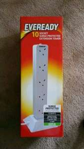 Eveready 10 Socket Surge Protector Extension Tower in store at B&M £9.99. Also available online with P&P.