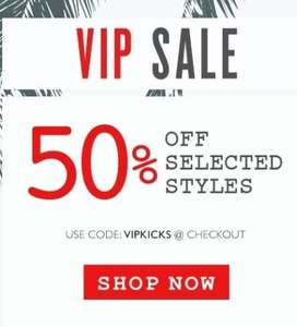 Kickers 50% off Sale On Selected Lines (+Quidco/Topcashback 10%+)