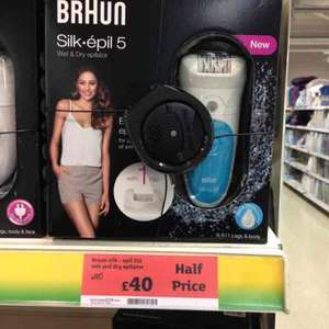 Braun silk epil 5 ladies wet & dry epilator £40 @ Sainsbury's in store