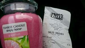 LARGE YANKEE CANDLE 7.99 B&M INSTORE