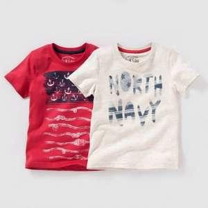 Pack of 2 Boys Printed T-Shirts 4-12 Yrs was £7 now £2.52 (with code) + Free C+C (Parcelshop) + Free Returns @ La Redoute (also Boys Straight Cotton Rich Jeans 3 - 12 Yrs was £13 now £4.68)