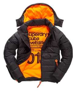 New Mens Superdry Winter Wet Scuba Jacket Black - Small - £37.99 @ Superdry store Ebay - Free delivery