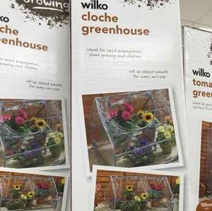 wilko cloche greenhouse £5 - free c&c