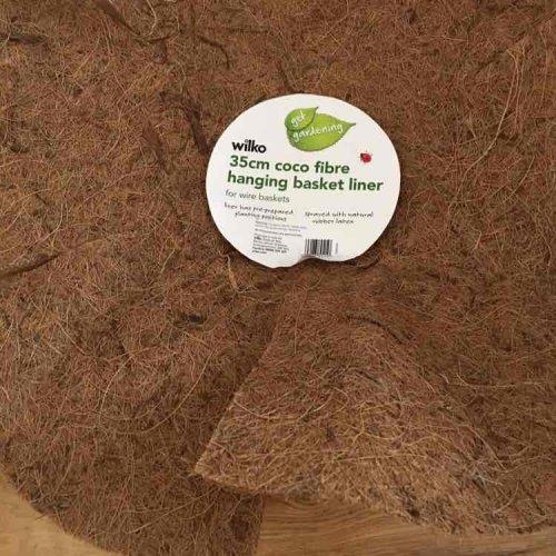 wilko coco fibre hanging basket liner 50p @ Wilko