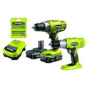 Ryobi +one Combi Hammer Drill and Drill Driver pack + 2 batteries and fast charge £99.99 @ Maplin