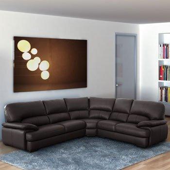 Positano Italian Leather Corner Sofa in Brown £1389.99 del @ costco