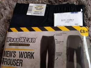 ALDI Workwear Mens Work Trousers £8.99 scanning at £4.49 Instore Leeds (Holbeck branch)