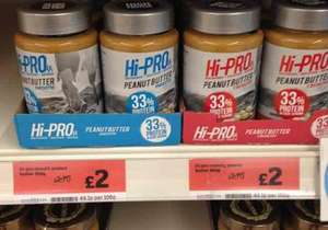 Hi-Pro Peanut Butter Crunchy/Smooth 454g £2 On line & In Store @ Sainsburys